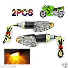 2 pzas. Mini Tallo Arrow Moto LED Intermitentes Anteojeras De Indicadores Luces