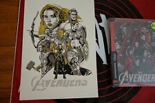 Tyler Stout The Avengers Variant Steel Book plus Gold Hand Bill Mondocon 2016