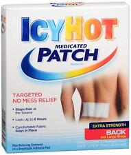 ICY HOT Medicated Patches Extra Strength Large (Back) 5 Each (Pack of 8)