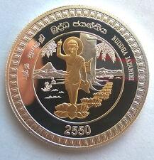 Sri Lanka 2006 Buddha 2000 Rupees Gild Silver Coin,Proof