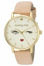 NEW w BOX $195 KATE SPADE  Leading Lady Metro Vachetta Leather Watch KSW1210