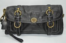 Coach Rare Limited Edition Garcia Large Turnlock Flap Clutch Wristlet 12707