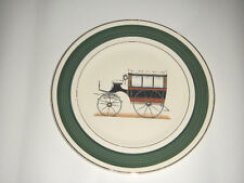 """SALEM CHINA CO 10.75"""" IMPERIAL SERVICE PLATE CUNNINGHAM'S COACH USA 23 K GOLD 51"""