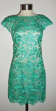 Eliza J Jade Green Lace Cap Sleeve Sheath Dress 14W New with Tag $198
