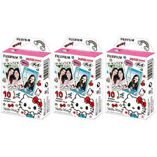 3 Packs 30 Photos Hello Kitty 2016 FujiFilm Fuji Instax Mini Film Polaroid SP-1