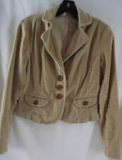 TAPEMEASURE Anthropologie Sz 4 Tan Velour Cropped Blazer Jacket Hipster