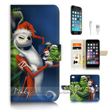 iPhone 7 (4.7') Flip Wallet Case Cover P3491 Frog Christmas