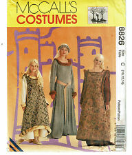 McCALLS COSTUMES PATTERN 8826 MISSES AND GIRL'S MEDIEVAL COSTUMES SIZE C (10-14)