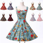 SUMMER DRESSES 50's VINTAGE STYLE ROCKABILLY RETRO PIN UP SWING PROM PARTY DRESS