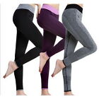 Women Cropped Leggings Capri Running Yoga Sport Pant High Waist Tight Fitness