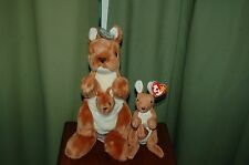POUCH the KANGAROO  - TY Beanie Baby and BUDDY - MWMT  -  Fast Shipping