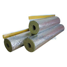 4 m Rock wool mineral Isolation Pipe insulation foil-laminated 50/89, 50% EnEV