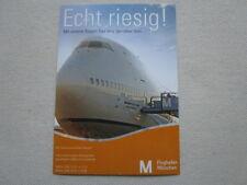 AUTOCOLLANT STICKER AUFKLEBER FLUGHAFEN MUNCHEN AIRPORT BOEING 747 AIRLINER