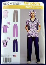 Simplicity Scrub Pants Top Hat Sewing Pattern Misses 10,12,14,16,18 1020 New
