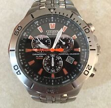 Citizen Eco-Drive Men's Glowing Chronograph Watch E812-SO40442 HST 20 Bar Alarm