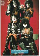KISS IN 1981 magazine PHOTO / mini Poster 11x8 inches