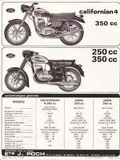 Publicité Motos JAWA 250 cc, 350 cc et california 4-350 cc