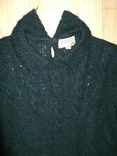 Vintage French Connection Black Mohair Dress Size S/M
