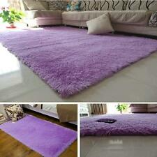New Fluffy Living Room Carpet Shaggy Soft Area Rug Rectangle Floor Mat Purple AD