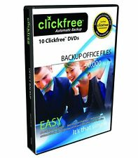 Clickfree 10 Backup DVD's Backup up to 90,000 Office Files Automatically