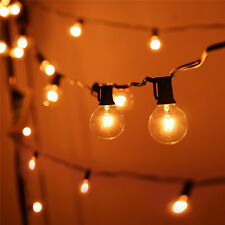 String Lights with 25 G40 Globe Bulbs Hanging Lamp Party Decor Indoor/Outdoor