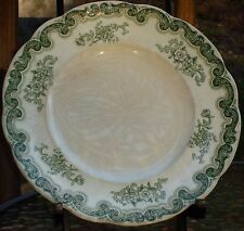 "RARE ANTIQUE J. & G. Meakin  8"" Staffordshire ""Mycasa"" Green Floral TRANSFERWARE"