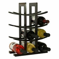 12 Bottle Wine Rack Wood Holder Table Top Bamboo Display Organizer Storage Stand