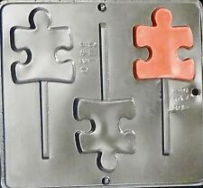 Autism Symbol Lollipop Chocolate Candy Mold  3420 NEW