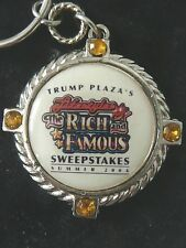 Donald Trump's Trump Plaza Casino Atlantic City  RICH & FAMOUS  2004  Keychain