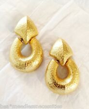 **GIVENCHY- Vintage Large Doorknocker Earrings Gold Finish