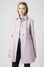 New Topshop Womens ladies Lilac Mohair Wool Blend jacket coat size 8 RRP £89
