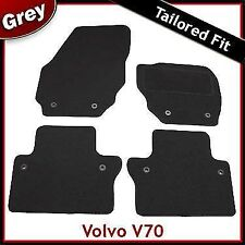 Volvo V70 Mk3 Automatic 2007 onwards Tailored Fitted Carpet Car Mats GREY