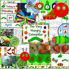 The Very Hungry Caterpillar -teacher resource CD- EYFS, KS1, minibeasts calendar