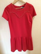 "New Red Sinequanone ""Rob Volant Clou Tee"" Dress Size 2 USA $280+"