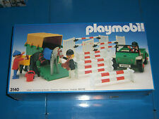 1986 VINTAGE PLAYMOBIL SYSTEM HORSES SHOWJUMPING EQUESTRIAN SET #3140 MIB SEALED