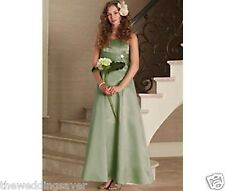 DRESS & BOLERO JACKET AGE 10 BHS FRANCESCA Pistachio Green Satin Bridesmaid BHS