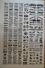 RC DRIFT JDM CAR 2 - BLACK Decal Sticker Label Yokomo MST HPI Tamiya Overdose