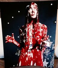 SISSY SPACEK SIGNED AUTOGRAPH INTENSE BLOOD COVERED CARRIE 11x14 PHOTO COA