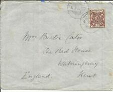British East Africa SG#67(single frank) MOMBASA 4/JU/1900 commercial