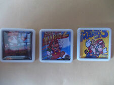 3 SUPER MARIO BROS GAME COVERS PINS BADGES FREE POST IN THE UK