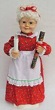 "23"" TELCO Animated Light MRS SANTA CLAUS Xmas Motionette Doll Display Figure 131"