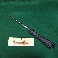 Vintage Gold Blacksmith Custom Ice Pick Canning Awl Tool Custom Ash Handle