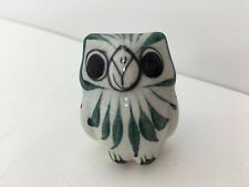 Hand Painted Mexican Ceramic Pottery Miniature Owl- Adorable!