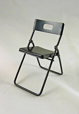 Dollhouse Miniature Black Metal Folding Chair,T4249