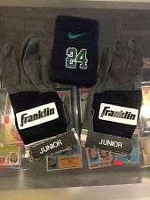 1991-96 KEN GRIFFEY JR. SEATTLE MARINERS GAME USED BATTING GLOVES  SWEATBAND LOA