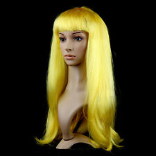 Anime Cosplay Multicolor Synthetic Hair Wig Costume Long Straight Wigs Party