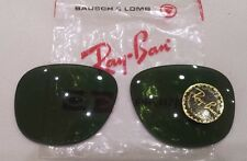 "RAY BAN coppia lenti  bausch & lomb   ""GATSBY 5""   verde RB3"