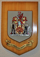 Large Mid Glamorgan County Council plaque shield crest coat of arms Wales
