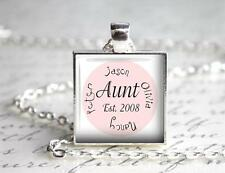 Personalized Aunt Pendant Charm Keychain Sister in Law Gift Up to 4 Names Custom