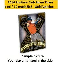 DAVID ORTIZ #BT-22 Red Sox MVP 2016 Stadium Club Beam Team 5X7 Gold #ed/10 made